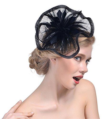 Feather Fascinators Hair Clip Pillbox Hat Derby Party Headdress Bride  Headwear 5bdcc18c47b9