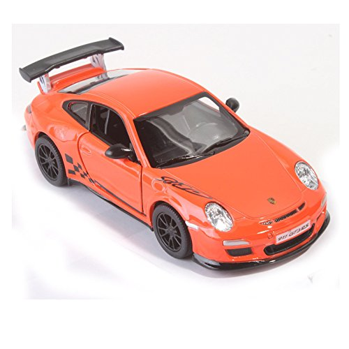 KiNSMART 2010 Porsche 911 GT3 RS Cars (Set of 4), White/Orange/Silver/Black