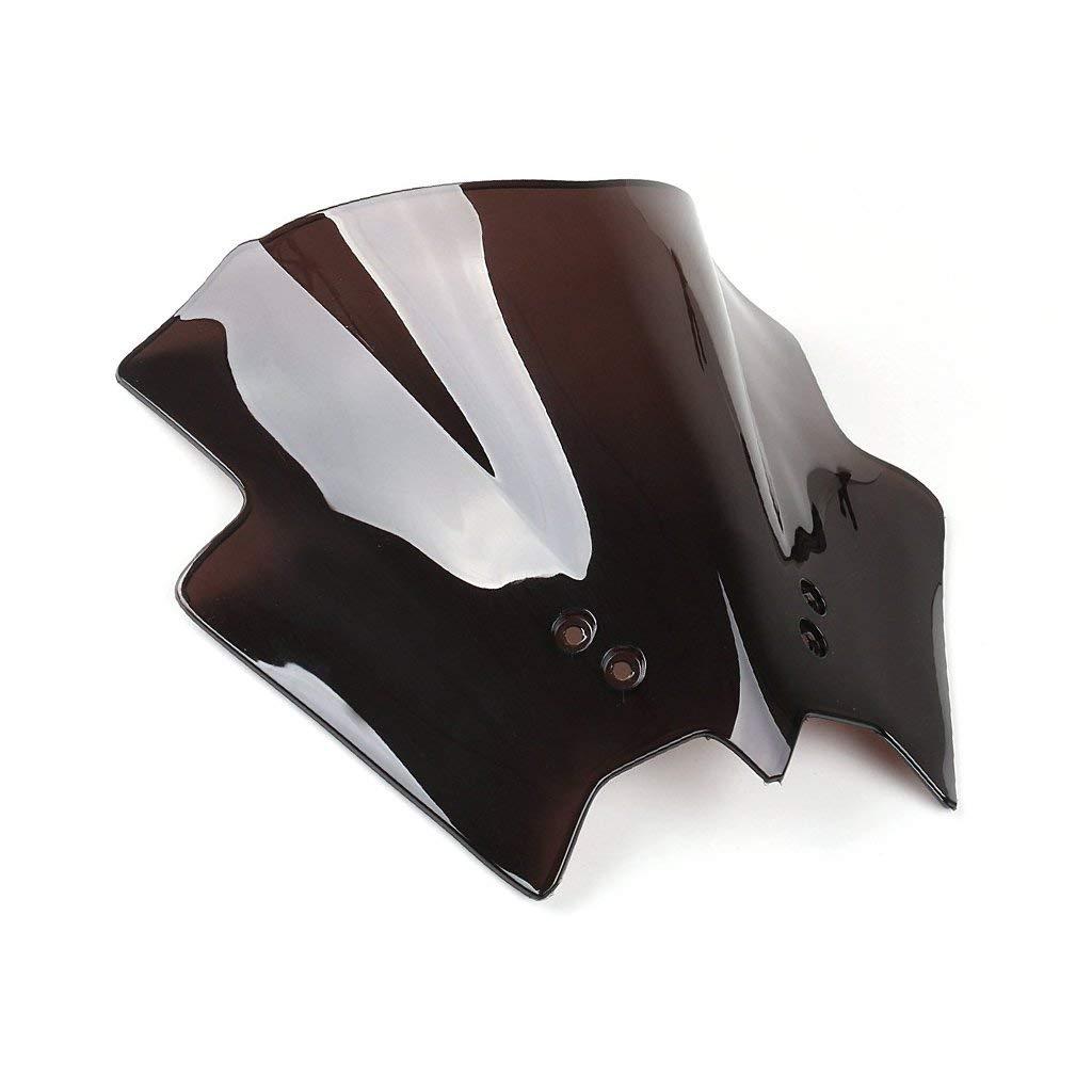 Schwarz) Motorrad Windschutzscheibe Shield Wind Screen Windschutzscheibe f/ür Duke 125 200 390