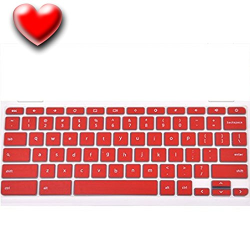 Keyboard-Cover-For-Acer-Chromebook-14-inch-Chromebook-CB3-431-CP5-471-Silicone-Skin-Laptops-Accessories-By-Casiii-14-Red