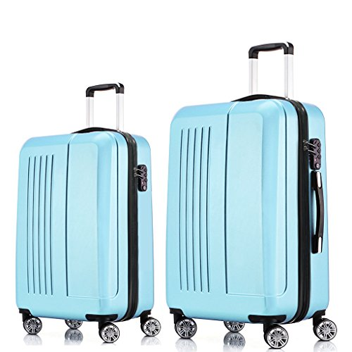 Fochier Luggage Lightweight 2 Piece Expandable Spinner Set with TSA Lock