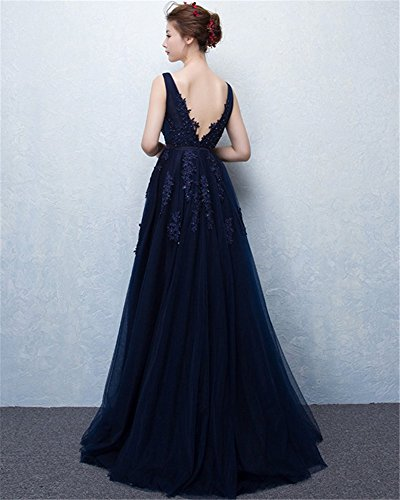 Damen Drasawee Kleid Damen Empire Drasawee Kleid Empire Marineblau qAvSxEwq6W