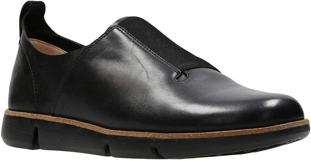 CLARKS Womens Tri Form B0754P4HBB 6.5 B(M) US|Black Leather