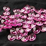 50pcs Hot Pink Faux Diamond Wedding Decoration Confetti Table Scatters 10mm