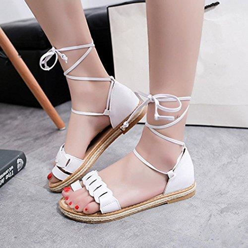 ... Sandalen Frauen Klassische Zehen Weiß Offene Sommerschuhe Elastische  Flache BZLine® StqwxdZHZ ... f442ba5dd7
