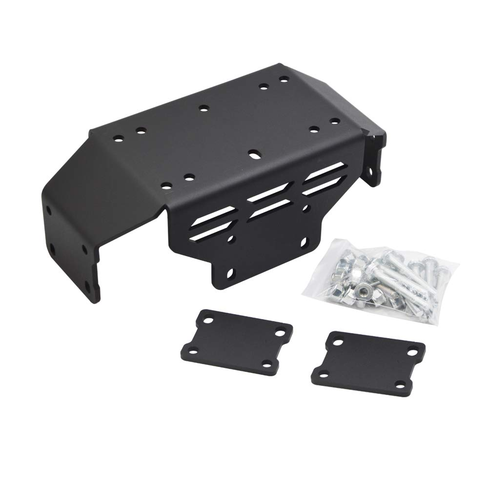 Dasen Winch Mount Plate kit for 15-19 Honda Pioneer 500 (Come with Complete Installation Instructions) by Dasen