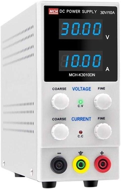 Electronic measuring equipment MCH-K3010DN Digital Display DC Power Supply 30V 10A Adjustable LED Manufacturing Industry Size : 110V