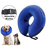 canfeifan Inflatable Dog Collar Large Comfy Cone Soft Protective Pet Recovery Collar for Large Dogs (L)