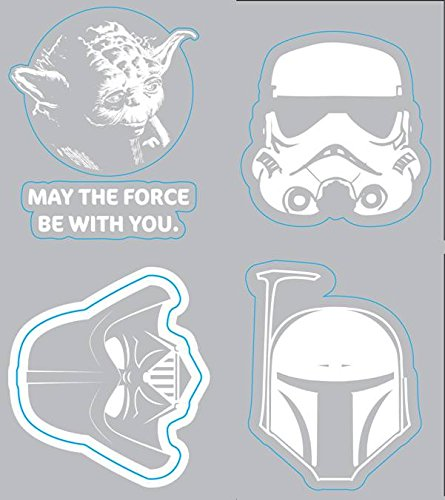 Chroma Graphics 45005 Star Wars Heads Family Decal Kit 4 Piece