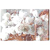 Rose Gold Feast' Contemporary Canvas Wall Art Print for Home Decor and Office. The Floral Wall Decor Collection by The Oliver Gal Artist Co. Gallery Wrapped and Ready to Hang. 45x30 inch