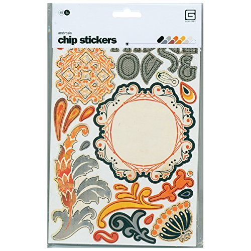 BasicGrey Die-Cut Chip Stickers - Ambrosia Shapes