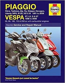 Piaggio Vespa Scooters 1991 2009 Service Repair Manuals Amazon Co Uk Anon 9781844258031 Books