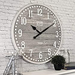 FirsTime & Co. 20 Arlo Gray Wall Clock, Light
