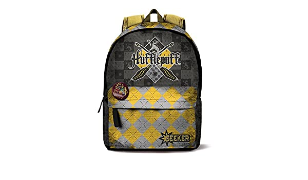Amazon.com : MOVIES Harry Potter Quidditch Hufflepuff Backpack 42cm : Office Products