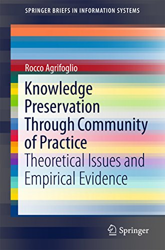 Download Knowledge Preservation Through Community of Practice: Theoretical Issues and Empirical Evidence (SpringerBriefs in Information Systems) Pdf
