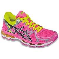 Asics Women's Performance Shoes Gel-Kayano 21 (3591) Hot-Pink/Lite/Safty-Yellow