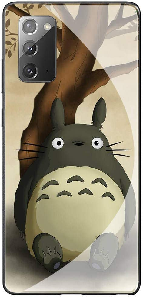 Amazon.com: Case for Samsung Galaxy Note 20 Ultra,Tempered Glass Soft TPU Scratch-Proof Protective Back Cover Anti-Collision Bumper Totoro Anime Phone Cases