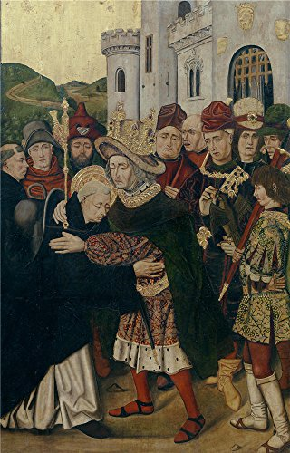 [The Polyster Canvas Of Oil Painting 'Bermejo Bartolome Bernat Martin Fernando I De Castilla Acogiendo A Santo Domingo De Silos 1478 79 ' ,size: 20 X 31 Inch / 51 X 79 Cm ,this Beautiful Art Decorative Canvas Prints Is Fit For Bathroom Decoration And Home Decor And Gifts] (Tanning Mom Halloween Costume)