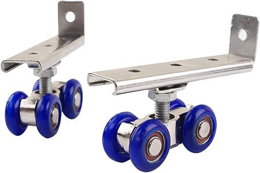 Ozzptuu - Rodillo de puerta corredera de 4 ruedas, aleación de aluminio, 2 unidades: Amazon.es: Bricolaje y herramientas