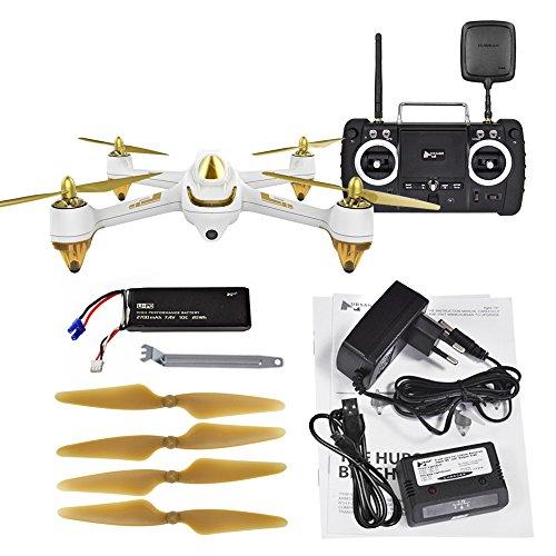 RaiFu ドローン Hubsan H501S H501SS X4 Pro 5.8G FPV 1080P HD カメラ付きGPS搭載 RTF フォローミーモード クワッドコプター ヘリコプター RCドローン おもちゃ ギフト初心者向き ホワイト