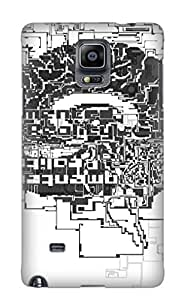 Defender Case For Galaxy Note 4, Anime Vocaloid Pattern, Nice Case For Lover's Gift