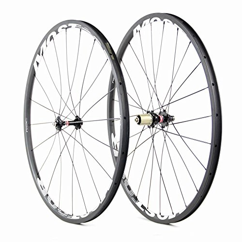 mostoor Carbon Bicycle 20mm Wheels Road Bike 700C Clincher Wheelsets 11 Speed for Shimano or Campagnolo White Logo