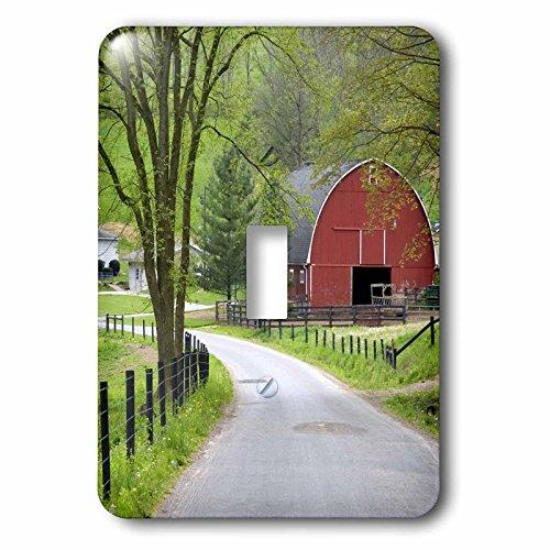 3dRose LLC lsp_93372_1 Red Barn and Farm House Near Berlin, Ohiom Us36 Dfr0019m David R Frazier Single Toggle Switch
