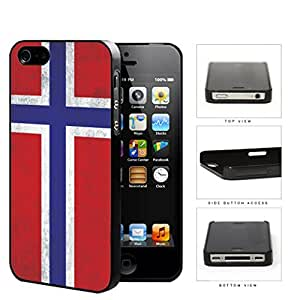 Norwegian Flag Dirty Grunge Hard Plastic Snap On Cell Phone Case Apple iPhone 4 4s
