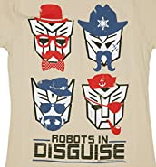 Womens Transformers Retro Robots in Disguise T Shirt
