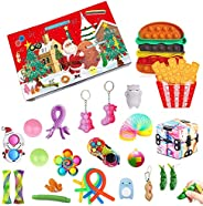 Fidget Toy Advent Calendar 2021 Christmas Countdown Calendar 24 Days Sensory Fidget Toys Set Novelty Decoratio