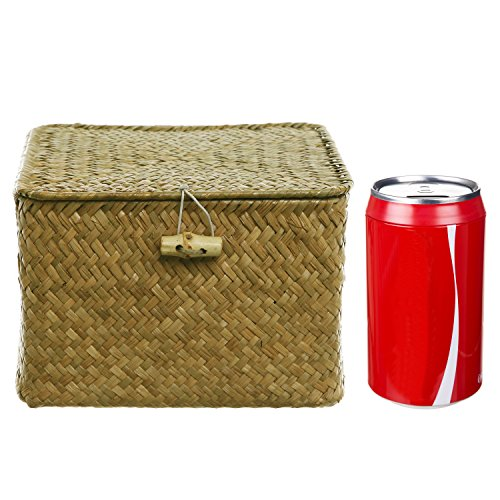Description. Defeat Disorganization With This Convenient Storage Hand Woven  Basket ...