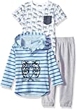 Little Me Boys' Toddler 3 Piece Play Set, Heather Gray, 3T