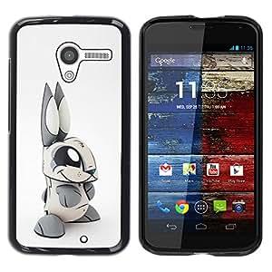 iKiki Tech / Estuche rígido - Toy Rabbit Grey White Long Ears - Motorola Moto X 1 1st GEN I XT1058 XT1053 XT1052 XT1056 XT1060 XT1055