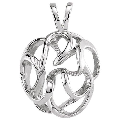 Bonyak Jewelry 14k White Gold Freeform Pendant