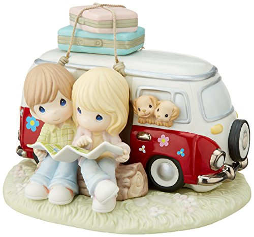 Anniversary Ltd Ed - Precious Moments, Ltd Ed Road Trip Couple Reading Map Figurine , Porcelain Bisque Figurine, 153024