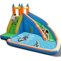 Costzon Inflatable Slide Bouncer Castle Bounce House (Without Blower)