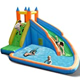 Best Inflatable Water Slides - Costzon Inflatable Slide Bouncer, Water Pool Slide Climber Review