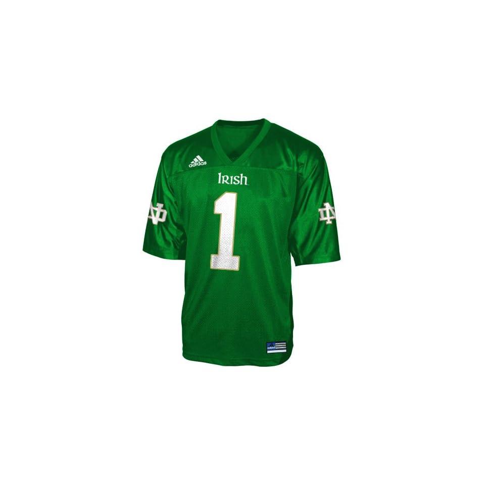 Adidas Notre Dame Fighting Irish #1 Green Youth Replica Football Jersey