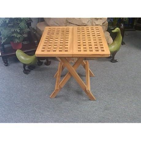 D ART COLLECTION Teak Square Picnic Table