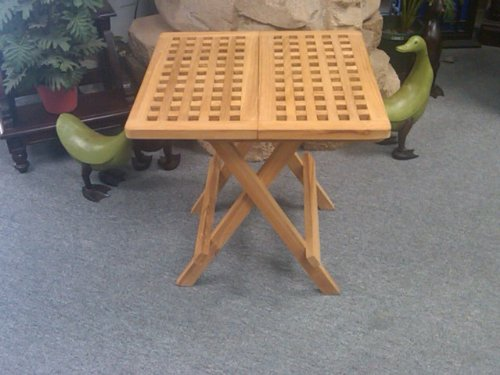 D-ART COLLECTION Teak Square Picnic Table by D-Art Collection