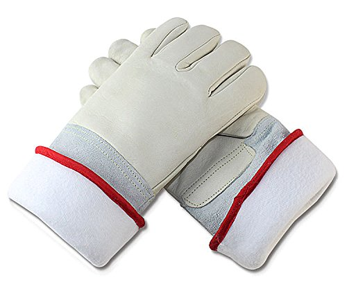 Inf-way Cryogenic Gloves Waterproof LN2 Liquid Nitrogen Protectiove Gloves Cold Storage Frozen Safety Working Gloves (White Large (24.41''/62cm)) by Inf-way (Image #3)