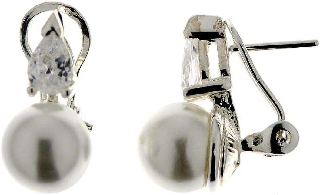 Pendientes Tu y Yo de Plata, Perlas Cultivadas, Tu y Yo Mujer, Pendientes Plata de Ley, Perlas