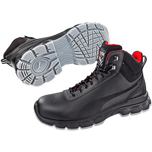 Puma Safety Footwear Mens Pioneer Mid Laceup Steel Toe S3 Safety Boots negro