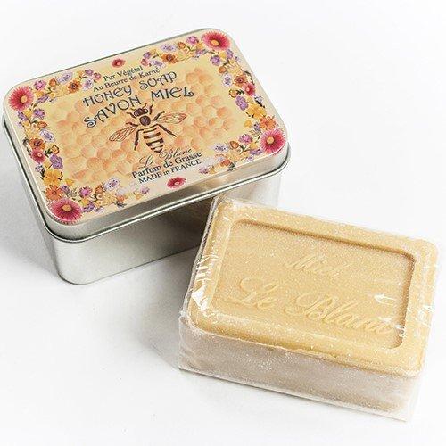 Savon LeBlanc Honey Soap in Honey Bee Tin (3.5 ounce) (Gift Soap Tin)