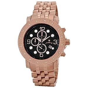 "JBW Men's JB-6116-F ""Tazo"" 18K Rose Gold-Plated Chronograph 0.16 Carat Diamond Watch"