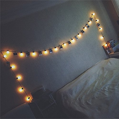 ️ Yu2d ❤️❤️ ️Window Curtain Lights String Star Lamp Party Decor Striking with 20 LED Beads]()