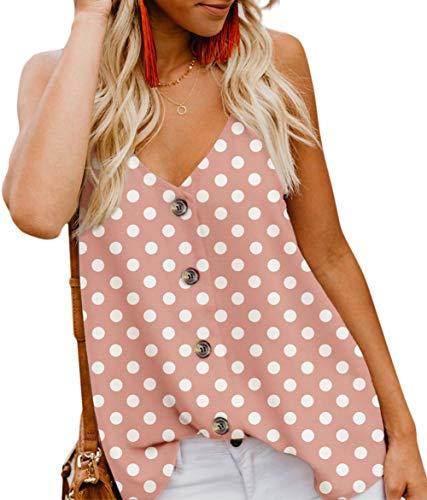 Angerella Women's Summer Polka Dot Print V