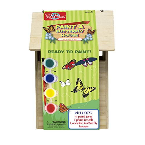 T.S. Shure Wooden Paint a Butterfly House Creativity Kit]()