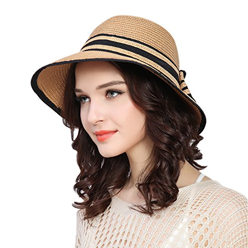 kekolin Fashion Classic Womens Foldable Sun Beach Straw Hats accessories
