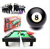 Remeehi Mini Billiards Tabletop Game Toy Pool Table with Cues, Triangle and Balls